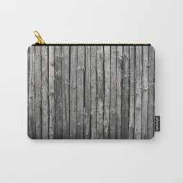 dark vertical wood Carry-All Pouch