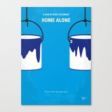 No427 My Home alone minimal movie poster Canvas Print