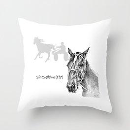 Sir Castleton (NZ) - Standardbred Throw Pillow