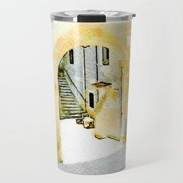 Tortora glimpse of the entrance wall to the nobiliar building Travel Mug