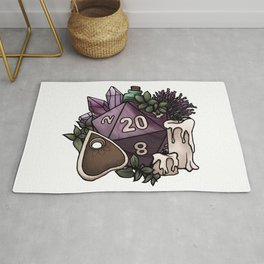 Witchy D20 Tabletop RPG Gaming Dice Rug