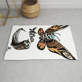 Mothra Kaiju Print Rug