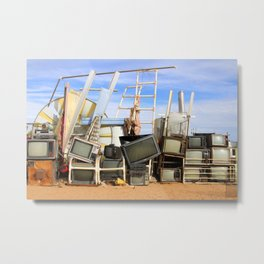 TV's in the Desert Metal Print