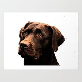 Chocolate Lab bywhacky Art Print