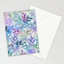 watercolor Botanical garden Stationery Cards