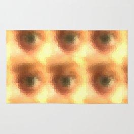 Creepy cartoon eyes pattern Rug