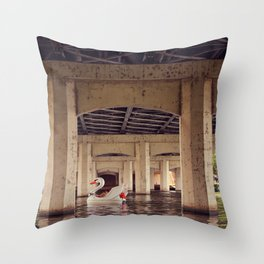 Floating the River! Throw Pillow