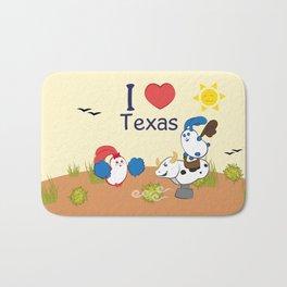 Ernest and Coraline | I love Texas Bath Mat