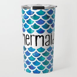 Mermaid Scales in Blue Travel Mug