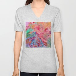Glorius Morning Multi Colored Abstract Unisex V-Neck