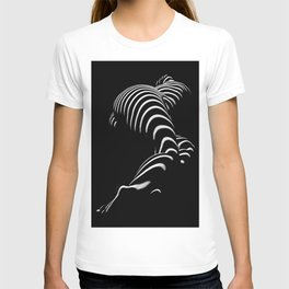 0774-AR BBW Sensual Legs Hips and Ass of a Large Woman Big Beautiful Art Nude Black and White T-shirt