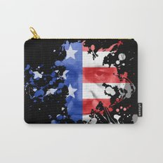 Frank Underwood  |  House Of Cards  |  Red, White & Blue Blood Spatter Carry-All Pouch