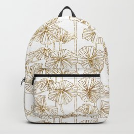 Hanging Flowers Gold Backpack