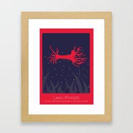 Found In Translation - Lieko Framed Art Print