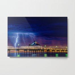 It's Beach Lightning Metal Print