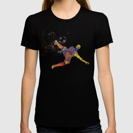 Soccer player in watercolor 12 T-shirt