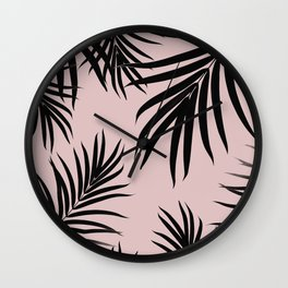 Palm Leaves Pattern Summer Vibes #3 #tropical #decor #art #society6 Wall Clock