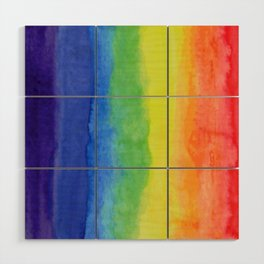 Primary Colors Art Deco Wood Wall Art