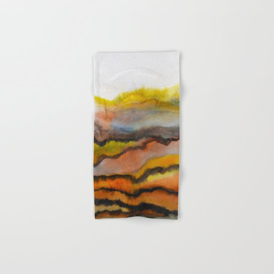 Watercolor abstract landscape 26 Hand & Bath Towel