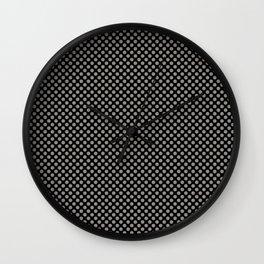 Black and Rock Ridge Polka Dots Wall Clock