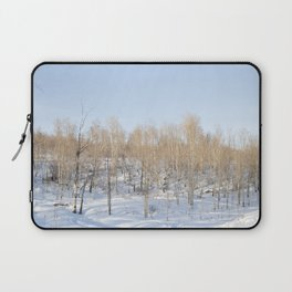 Snowfall and treetops Laptop Sleeve
