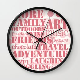 More...Happy (square) Wall Clock