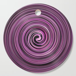 Pink and Black waves Cutting Board