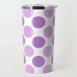 Lilac polka dots Travel Mug