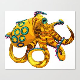 Blue-Ringed Octopus Canvas Print