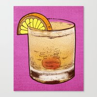drink Canvas Prints featuring DRINK  by MR VELA