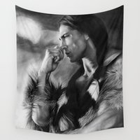 native american Wall Tapestries featuring Native American  by Thubakabra