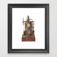 Vintage Clock Framed Art Print