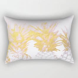 Golden pineapples Rectangular Pillow