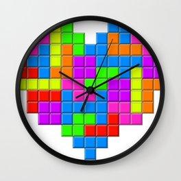 Love Tetris Wall Clock