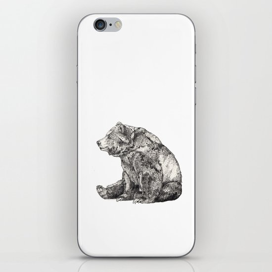Bear // Graphite iPhone Skin