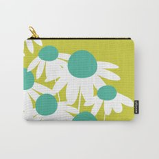 Flowers on Green by Friztin Carry-All Pouch
