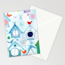 Cuckoo Clocks-Time for fun! Stationery Cards