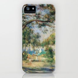 Bois de la Chaise (Paysage) (1892) by Pierre-Auguste Renoir. iPhone Case