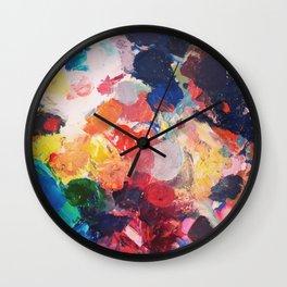 Paint Palette Wall Clock