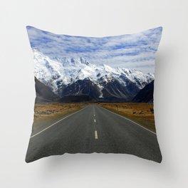 Aoraki Mountain Cook National Park Canterbury New Zealand Ultra HD Throw Pillow