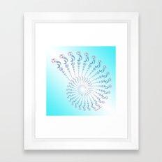 Tribal Mermaid Spiral Shell Turquoise Framed Art Print