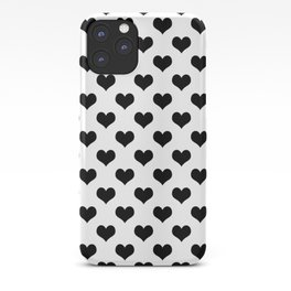 White And Black Heart Minimalist iPhone Case