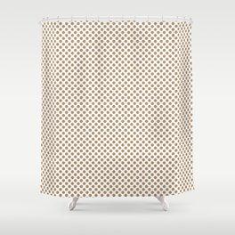 Iced Coffee Polka Dots Shower Curtain