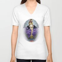 goddess V-neck T-shirts featuring Goddess by Joey Gates