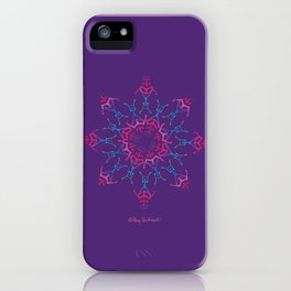 Breathe Inn & Out Mandala - Violet iPhone Case