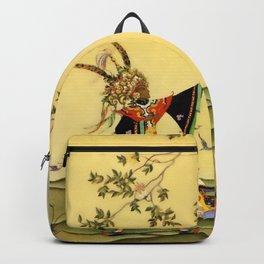 "Folk tale ""1001 Nights"" by Virginia Sterrett Backpack"