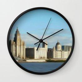 Liverpool Waterfront (Digital Art) Wall Clock