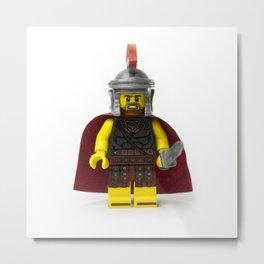 Roman gladiator Minifig Metal Print