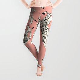 Pink Tiger Pattern 006 Leggings