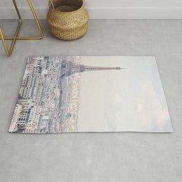 Paris Skyline, Eiffel Tower View, Travel Photography Rug